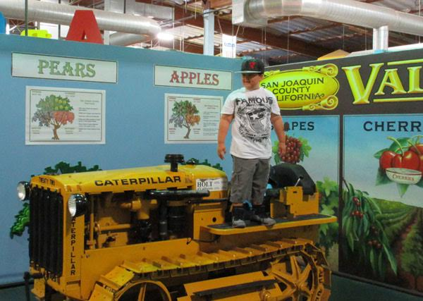 ​Daniel Alvarez, 7 enjoying the farm exhibit at the Children's Museum of Stockton.